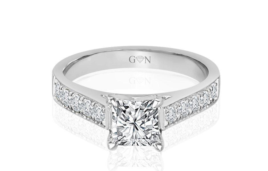 Ladies Multi Set Engagement Ring - R1026 | GN Designer Jewellers