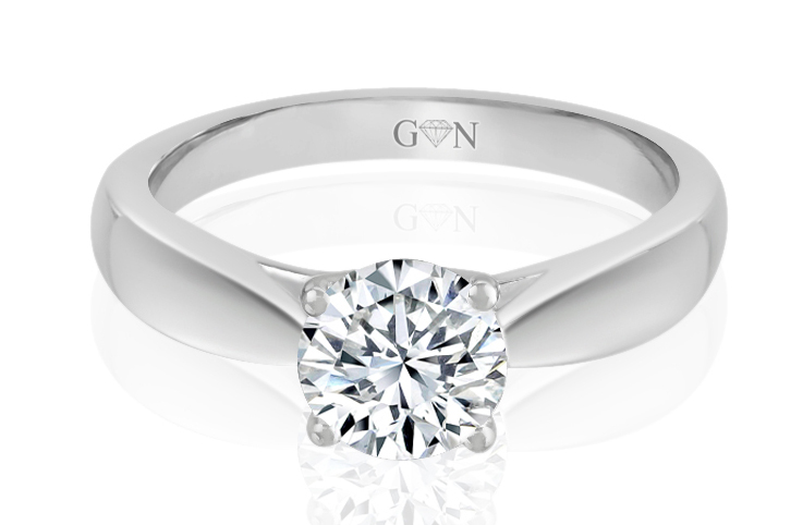 Ladies Solitaire Design Engagement Ring - R1036 - GN Designer Jewellers
