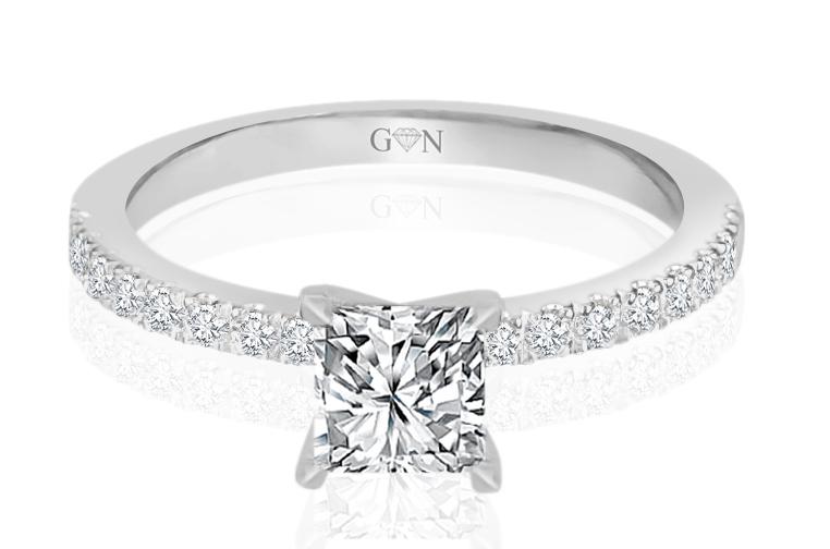 Ladies Multi Set Engagement Ring - R1043 - GN Designer Jewellers