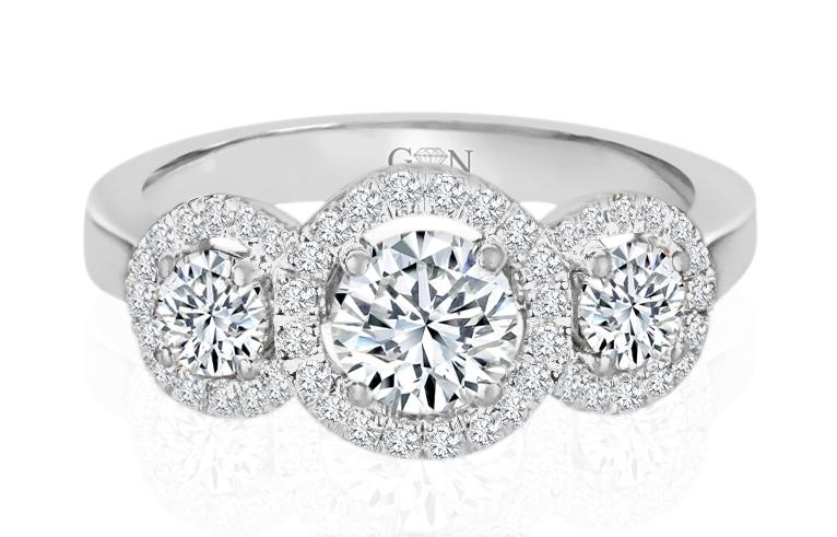 Ladies Halo Design Engagement Ring - R1053 - GN Designer Jewellers