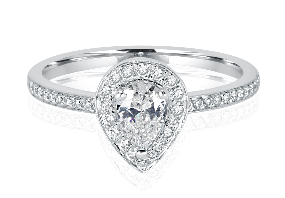 Ladies Halo Design Engagement Ring - R1054 - GN Designer Jewellers