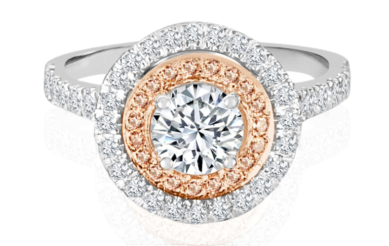 Ladies Halo Design Engagement Ring - R1078 - GN Designer Jewellers