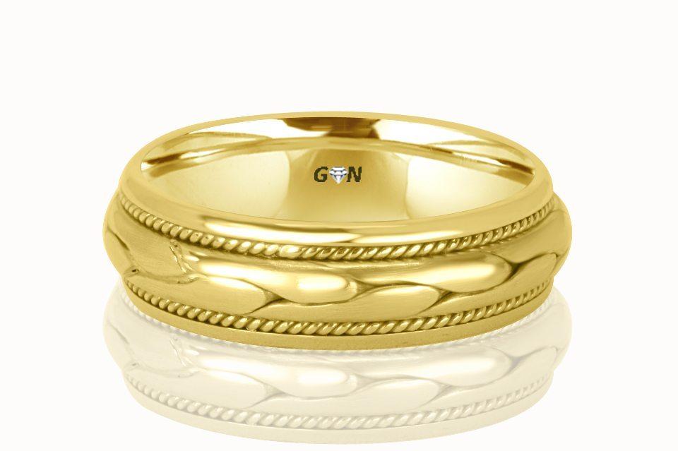 Gents Wedding Ring - R298 - GN Designer Jewellers