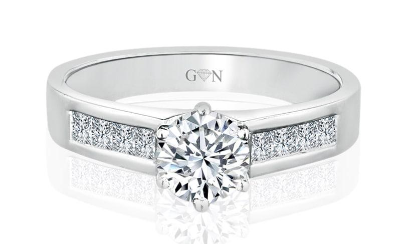 Ladies Multi Set Engagement Rings R419 - GN Designer Jewellers