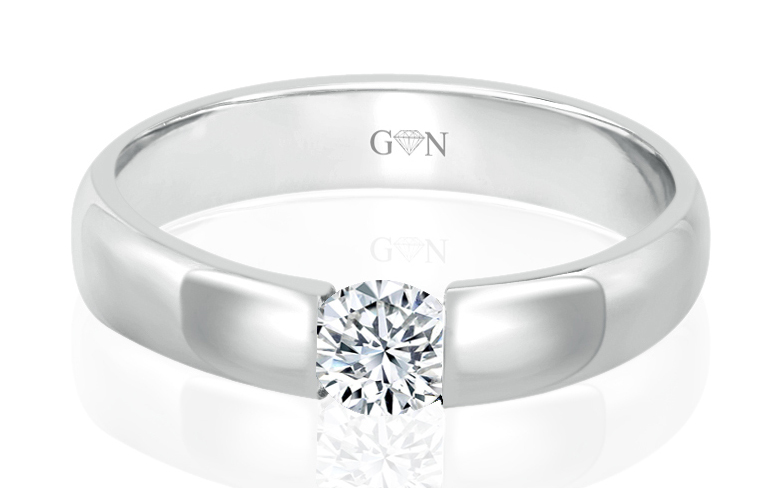 Ladies Solitaire Design Engagement Ring - R441 - GN Designer Jewellers