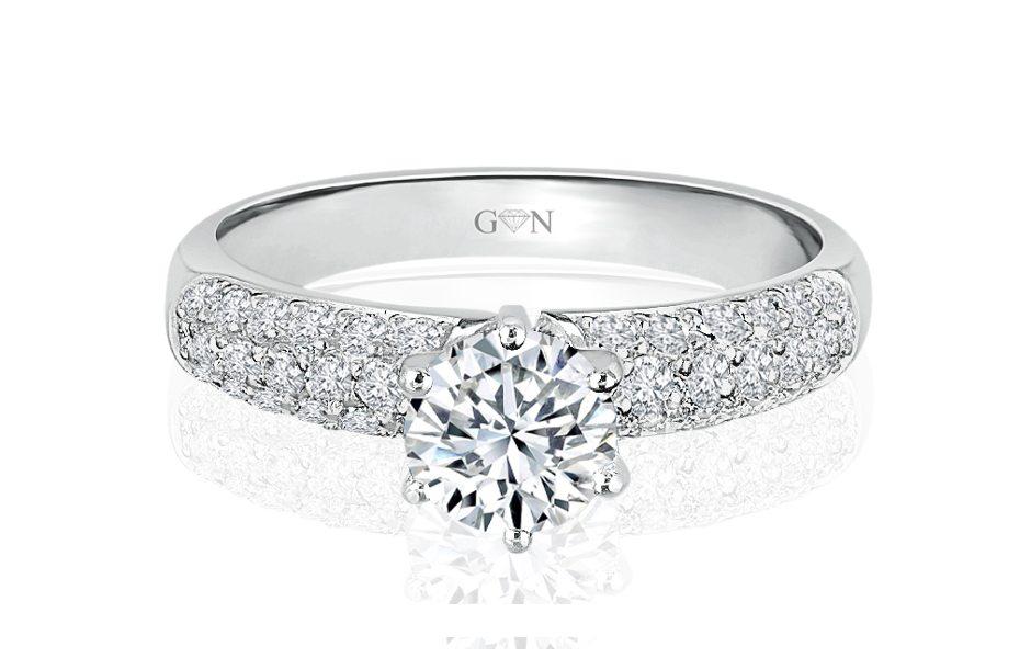 Ladies Multi Set Engagement Ring - R492b   GN Designer Jewellers