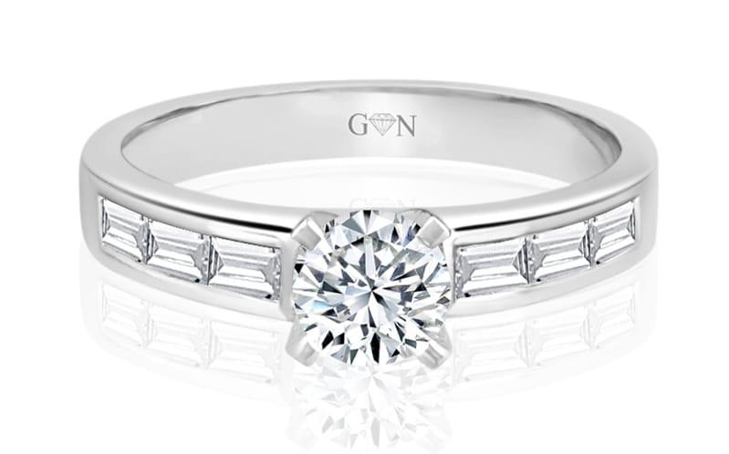 Ladies Multi Set Engagement Ring - R511 - GN Designer Jewellers