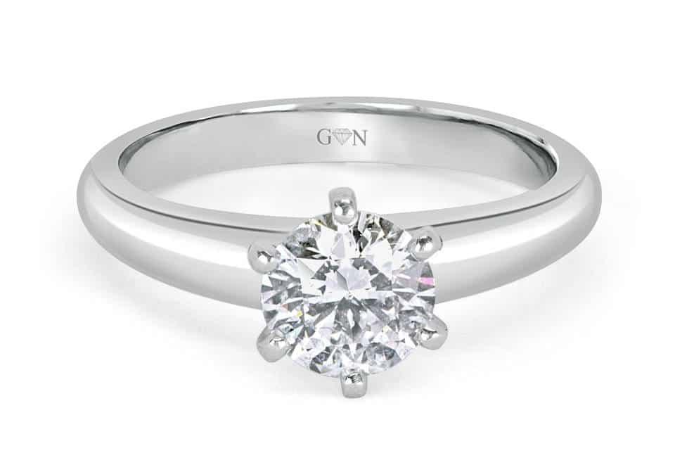 Ladies Solitaire Design Engagement Ring - R542 - GN Designer Jewellers