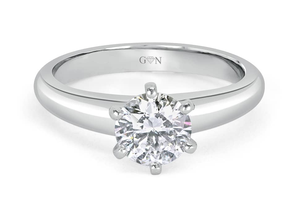 Ladies Solitaire Design Engagement Ring - R542 - GN Designer Jewellers