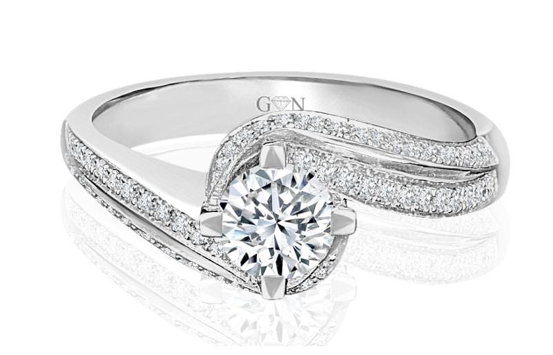 Ladies Multi Set Engagement Ring - R545 - GN Designer Jewellers