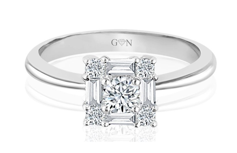 Ladies Halo Design Engagement Ring - R620 - GN Designer Jewellers