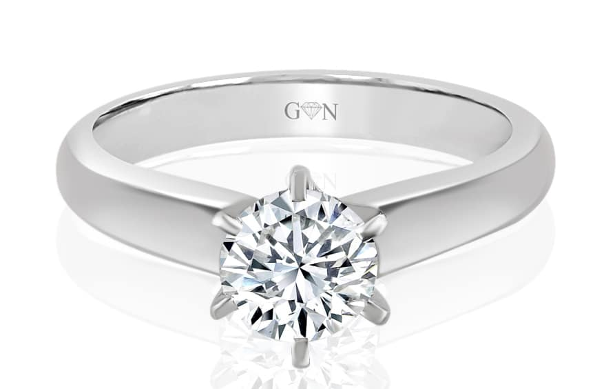 Ladies Solitaire Design Engagement Ring - R668A - GN Designer Jewellers