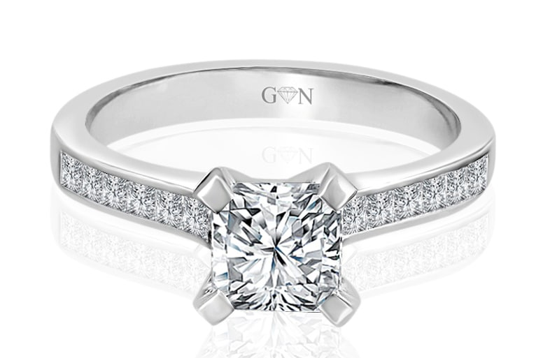 Ladies Multi Set Engagement Ring - R669 - GN Designer Jewellers