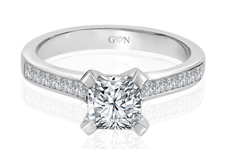 Ladies Multi Set Engagement Ring - R669 - GN Designer Jewellers