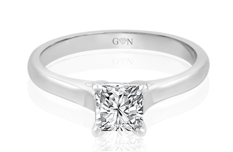 Ladies Solitaire Design Engagement Ring - R724 - GN Designer Jewellers