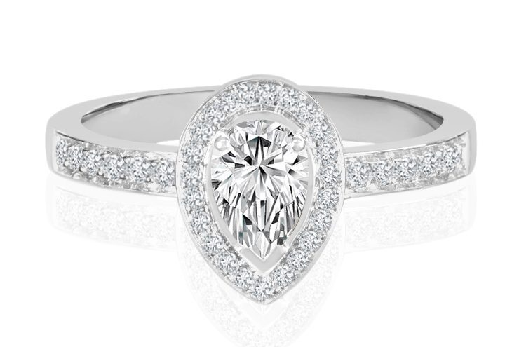 Ladies Halo Design Engagement Rings - R768 - GN Designer Jewellers