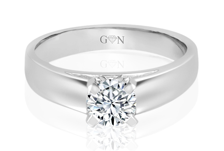 Ladies Solitaire Design Engagement Ring - R810 - GN Designer Jewellers