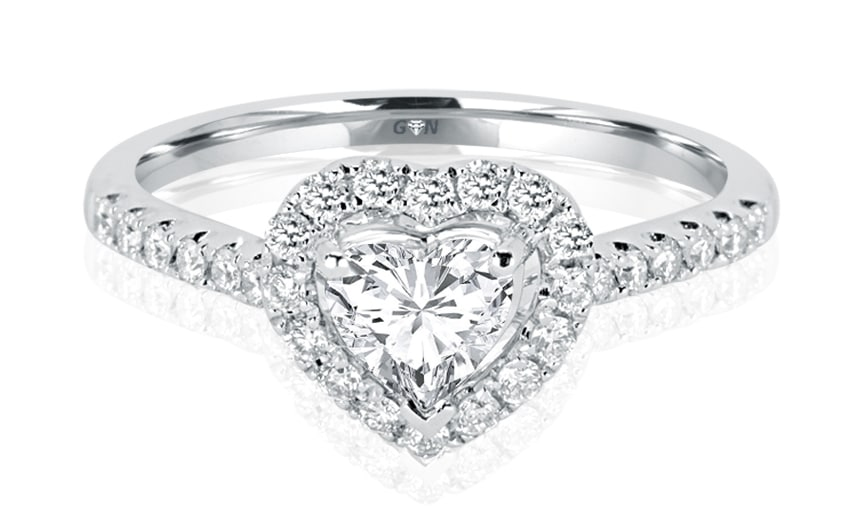Ladies Halo Design Engagement Ring - R832 - GN Designer Jewellers