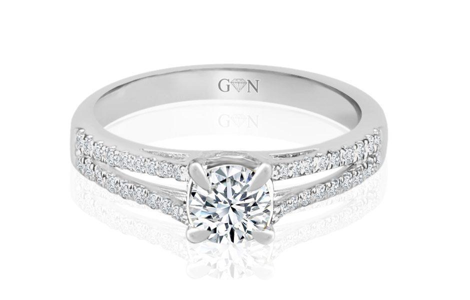 Ladies Multi Set Engagement Ring - R854 | GN Designer Jewellers