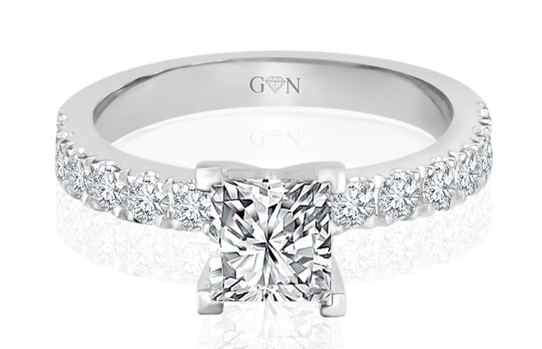Ladies Multi Set Engagement Ring - R869 - GN Designer Jewellers