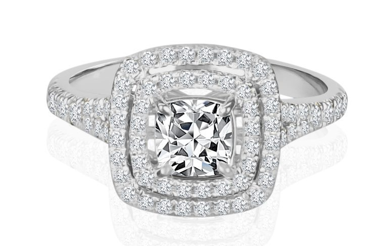 Ladies Halo Design Engagement Ring - R871 - GN Designer Jewellers