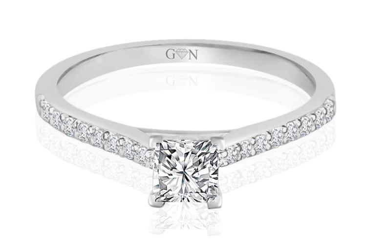 Ladies Multi Set Engagement Ring - R874 - GN Designer Jewellers