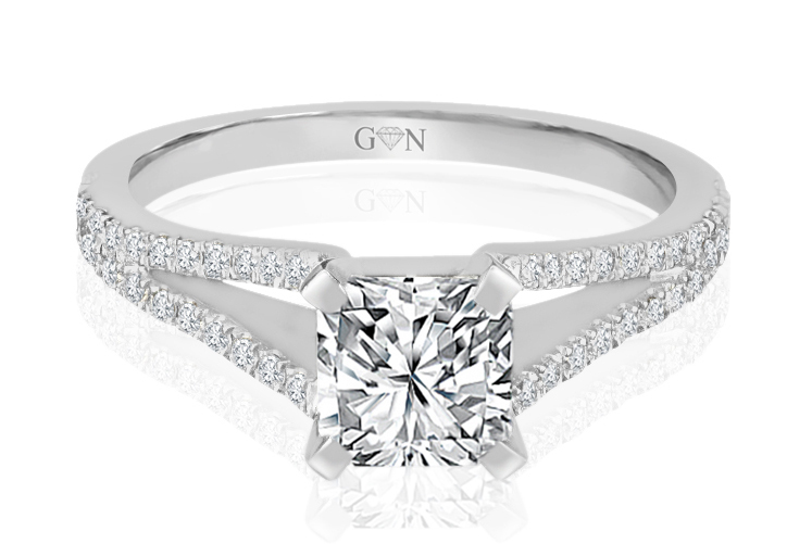 Ladies Multi Set Engagement Ring - R894 - GN Designer Jewellers