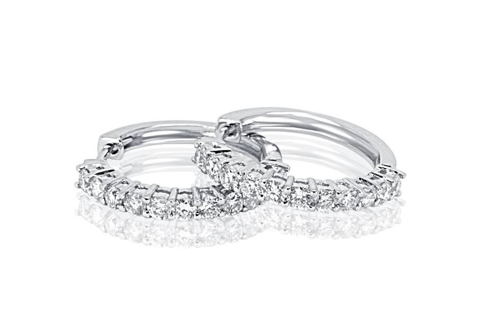 Diamond Earrings - DE109 - GN Designer Jewellers