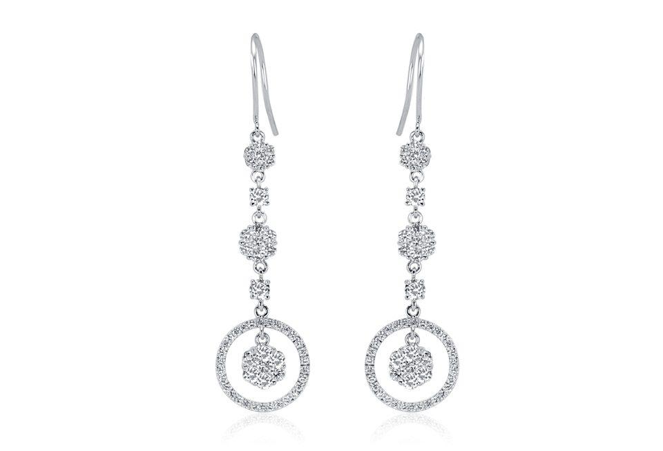 Diamond Earrings - DE272 - GN Designer Jewellers