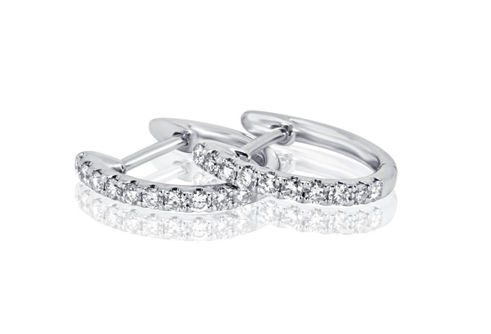 Diamond Earrings - DE825 - GN Designer Jewellers
