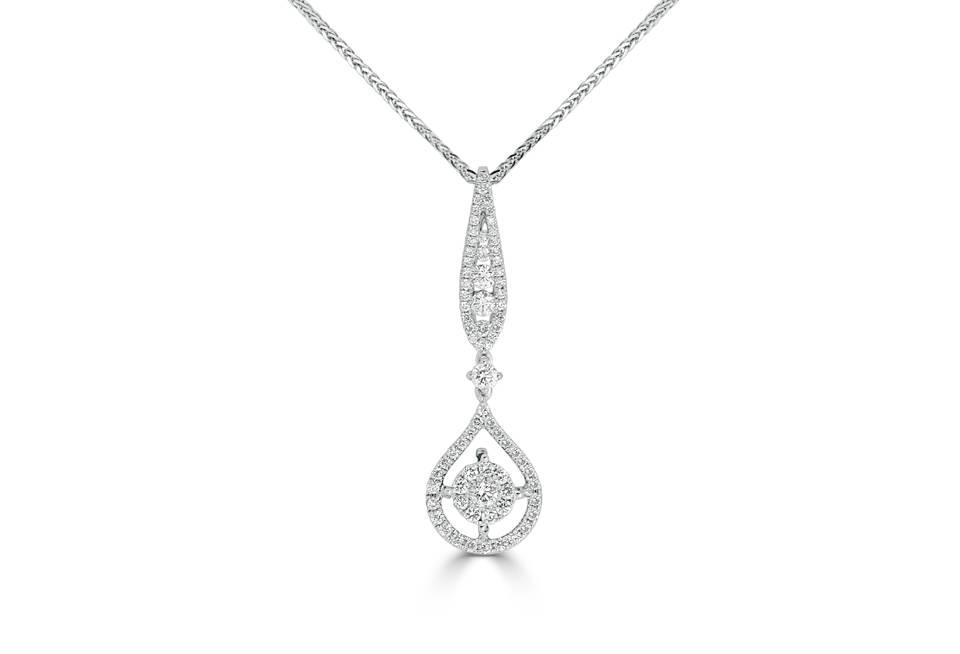 Ladies Diamond Pendant - DP265 - GN Designer Jewellers