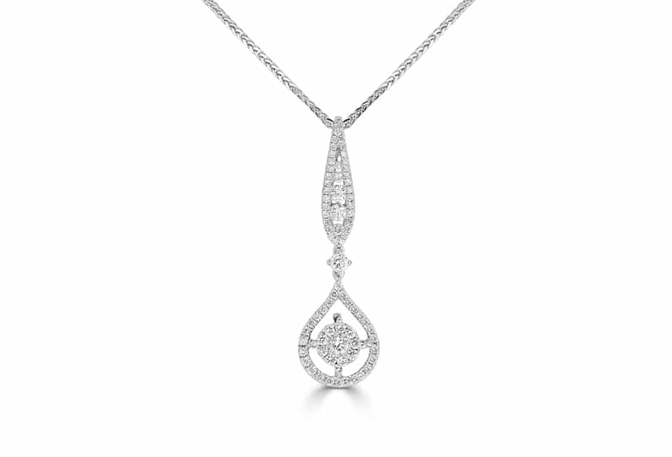 Ladies Diamond Pendant - DP265 - GN Designer Jewellers