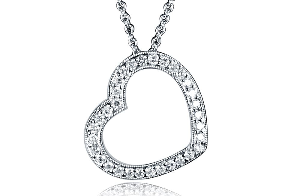 Ladies Diamond Pendant - DP270 - GN Designer Jewellers