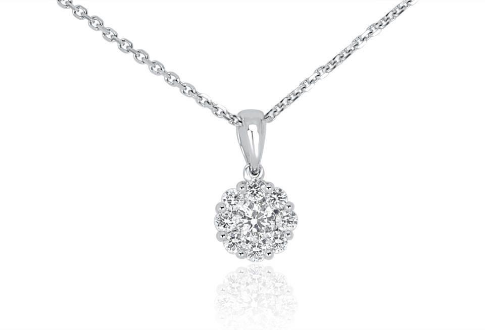 Ladies Diamond Pendant - DP278 - GN Designer Jewellers