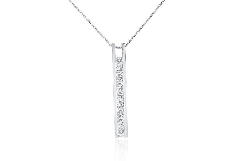 Diamond Pendant - DP306 - GN Designer Jewellers