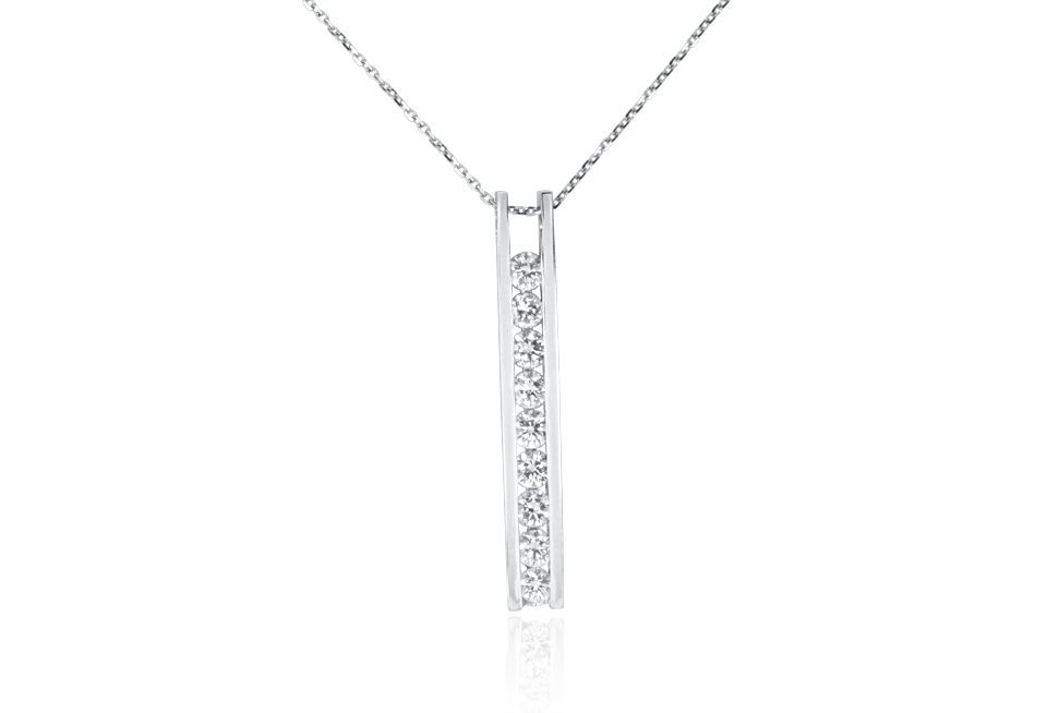 Diamond Pendant - DP306 - GN Designer Jewellers