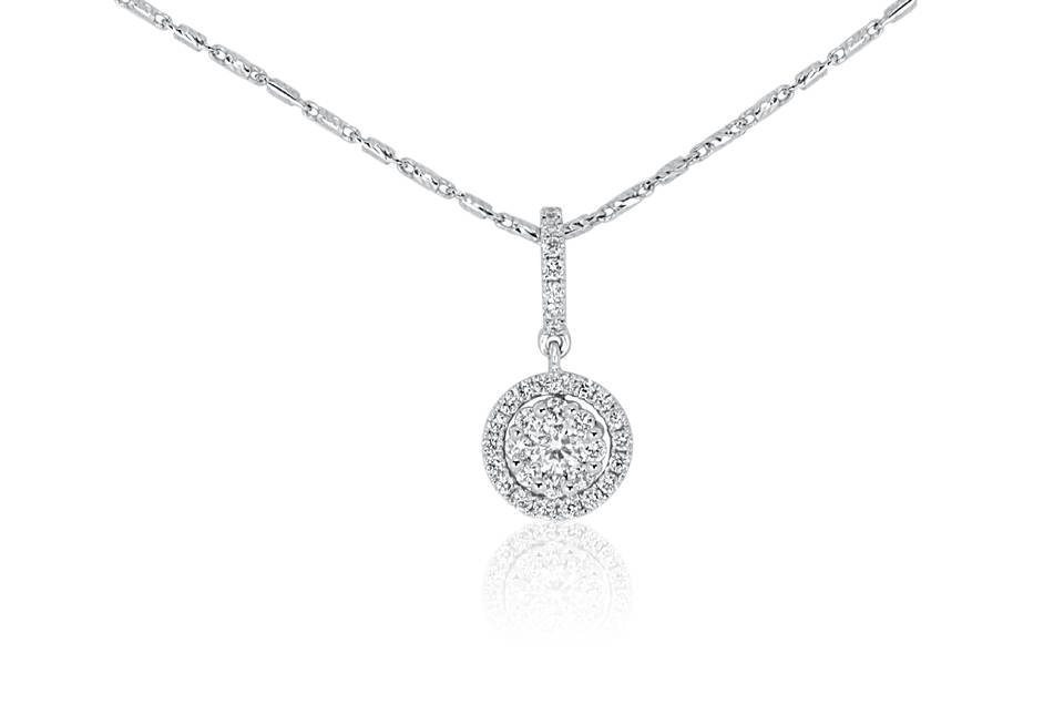 Diamond Pendant - DP310 - GN Designer Jewellers