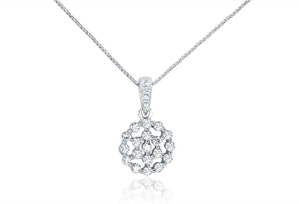 Diamond Pendant - DP313 - GN Designer Jewellers