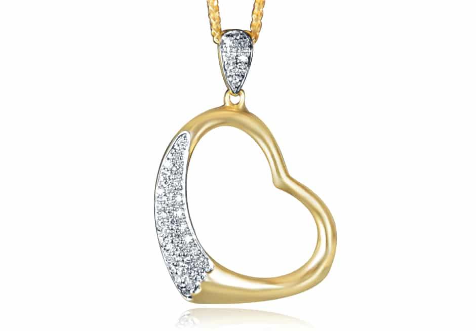 Ladies Diamond Pendant - DP34 - GN Designer Jewellers