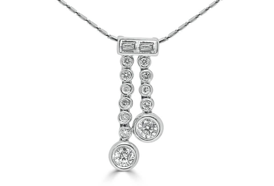 Ladies Diamond Pendant - DP65 - GN Designer Jewellers