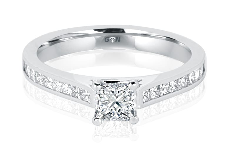 Ladies Solitaire Multi Band Engagement Ring - R1045 - GN Designer Jewellers