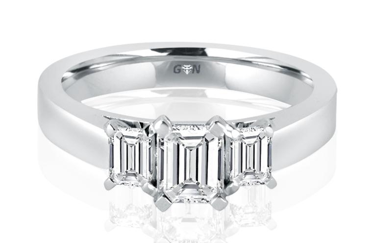 Ladies Three Stone Engagement Ring - R1046 - GN Designer Jewellers