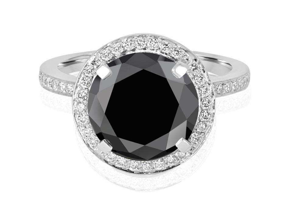 Ladies Halo Design Coloured Stone Engagement Ring - R1066 - GN Designer Jewellers
