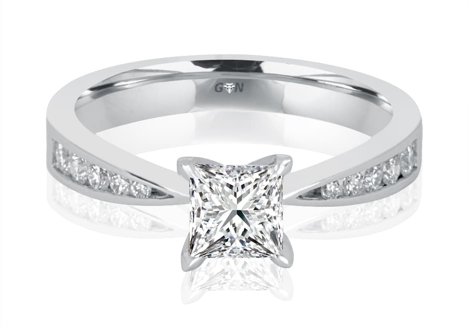 Ladies Solitaire Multi Band Engagement Ring - R1090 - GN Designer Jewellers