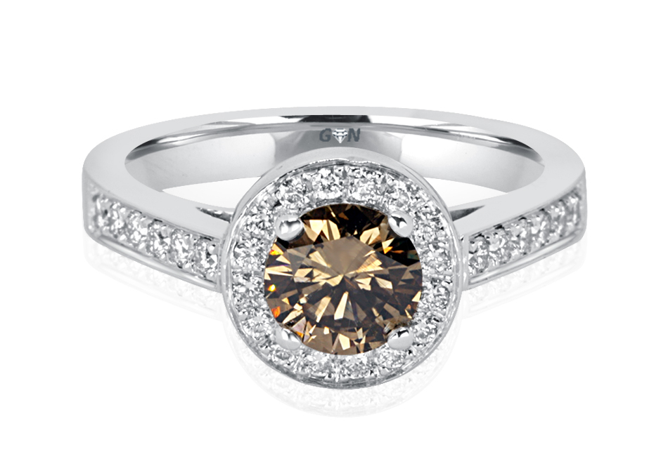 Ladies Halo Design Engagement Ring - R1127 - GN Designer Jewellers