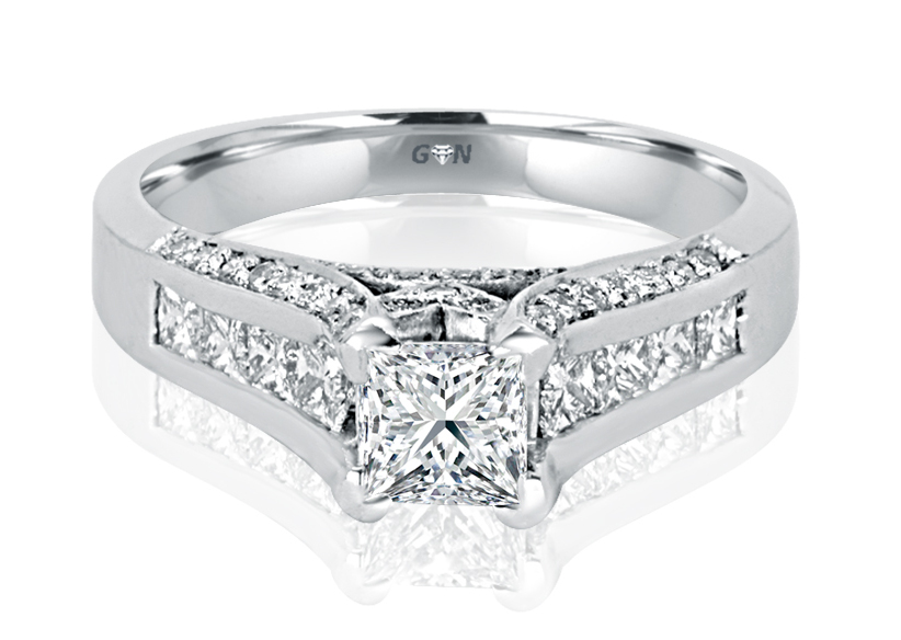 Ladies Solitaire Multi Band Engagement Ring - R226 - GN Designer Jewellers