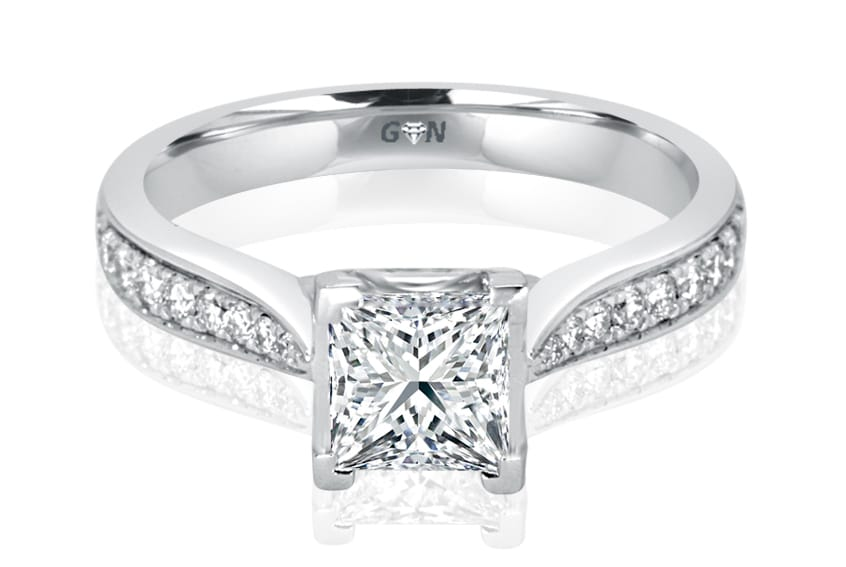 Ladies Solitaire Multi Band Engagement Ring - R804 - GN Designer Jewellers