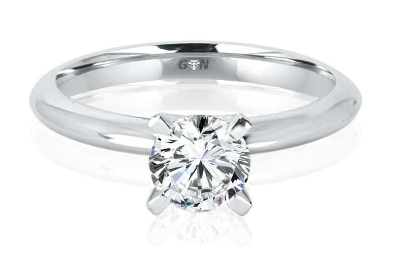 Ladies Solitaire Engagement Ring - R881 - GN Designer Jewellers
