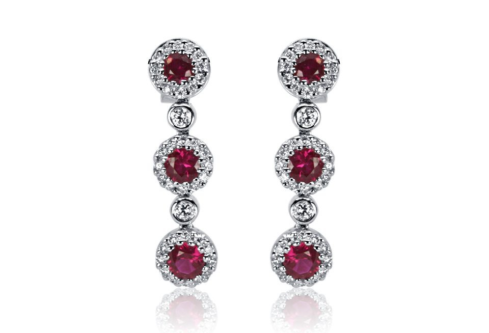 Diamond Earrings - DE120 - GN Designer Jewellers