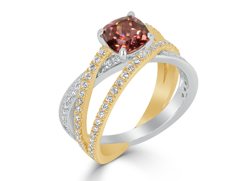 Ladies Coloured Stone Design Engagement Ring - R1168 - GN Designer Jewellers